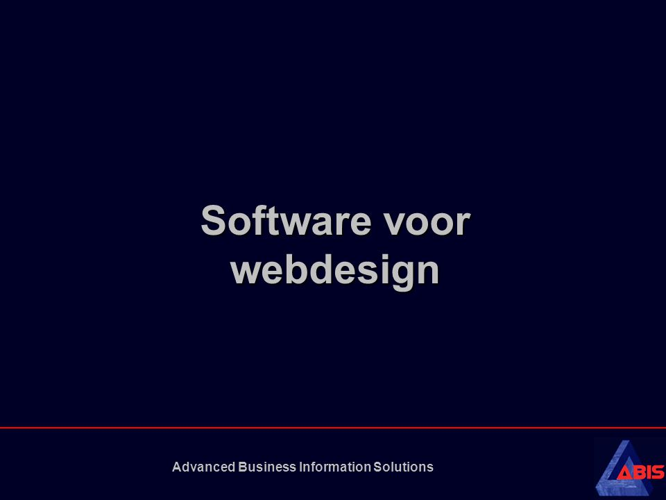 Advanced Business Information Solutions Software voor webdesign