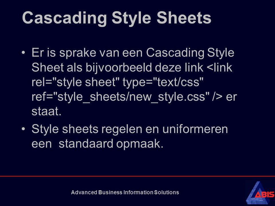 Cascading Style Sheets Er is sprake van een Cascading Style Sheet als bijvoorbeeld deze link er staat.