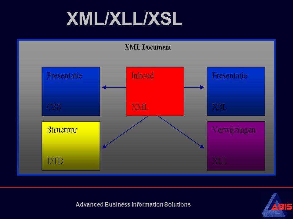 Advanced Business Information Solutions WML (Wireless Markup Language) WML is een standaardtaal Onderdeel van WAP (Wireless Access Protocol) vormt.