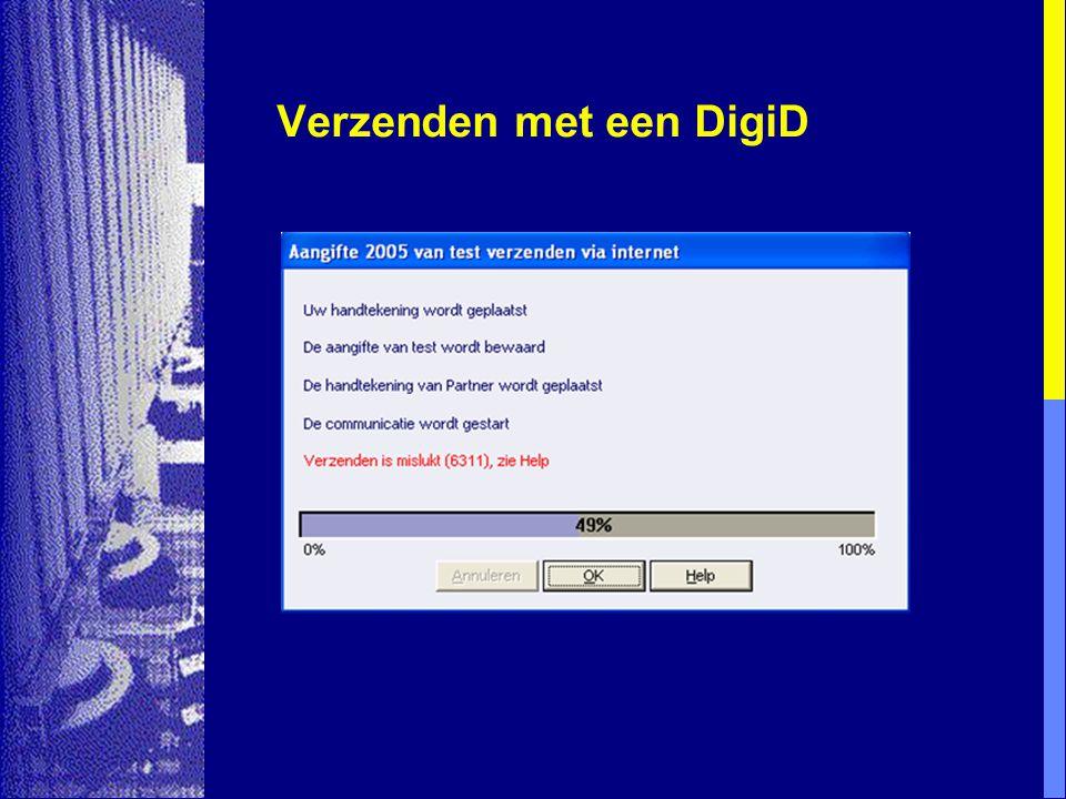 Verzenden met een DigiD