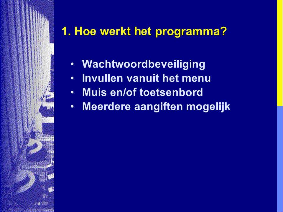 1.Hoe werkt het programma.