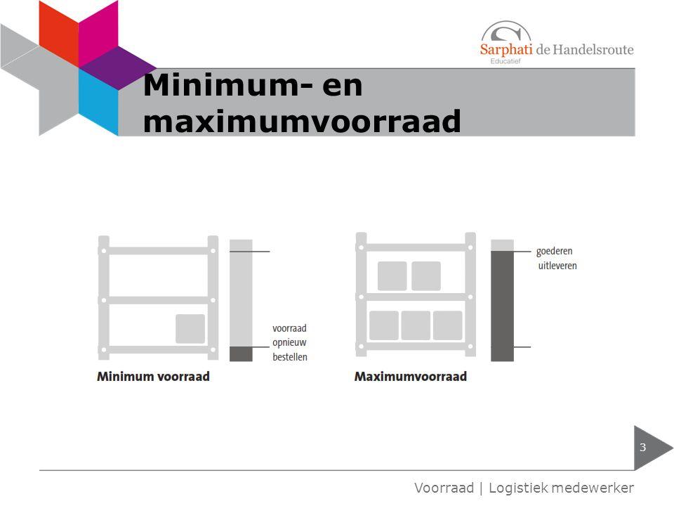 Minimum- en maximumvoorraad 3 Voorraad | Logistiek medewerker
