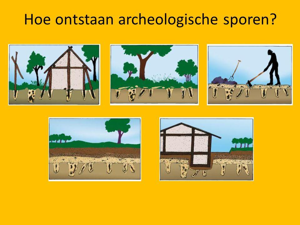Hoe ontstaan archeologische sporen?