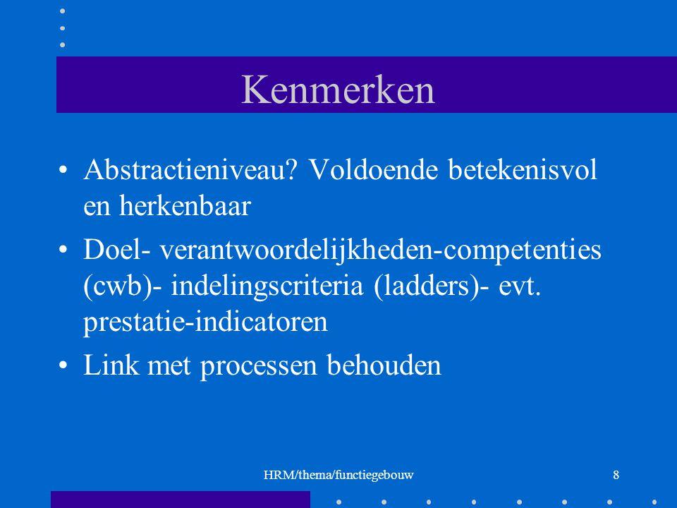 HRM/thema/functiegebouw8 Kenmerken Abstractieniveau.
