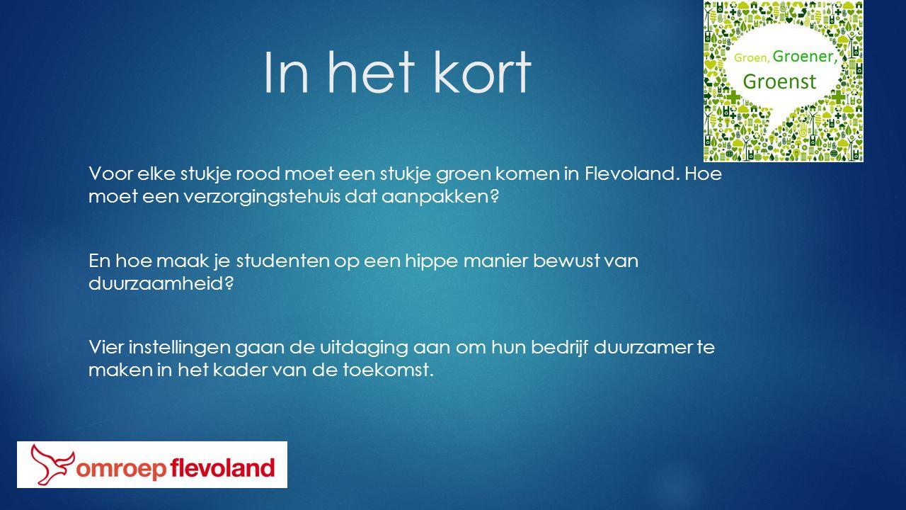 In het kort Voor elke stukje rood moet een stukje groen komen in Flevoland.