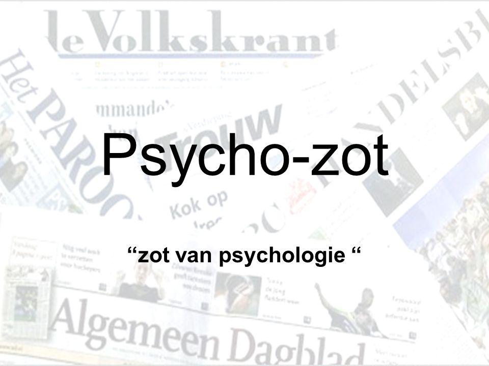 Psycho-zot zot van psychologie