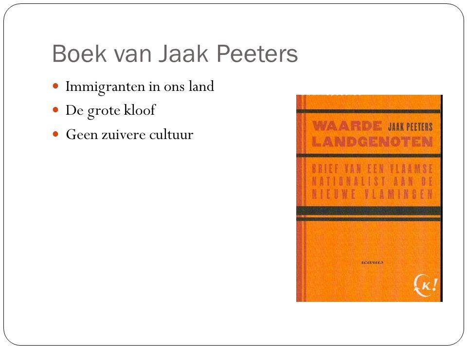 Boek van Jaak Peeters Immigranten in ons land De grote kloof Geen zuivere cultuur