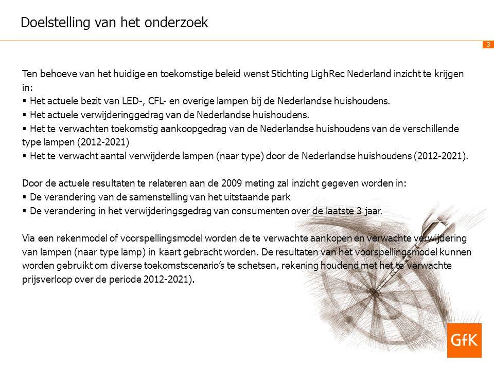 3 Doelstelling van het onderzoek Ten behoeve van het huidige en toekomstige beleid wenst Stichting LighRec Nederland inzicht te krijgen in:  Het actu