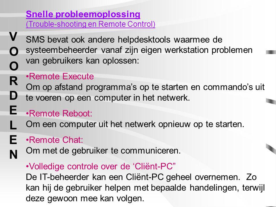 ADMINISTRATORTOOLSADMINISTRATORTOOLS Sites: Bij het inloggen op een SMS server wordt de hardware info van elk werkstation bewaard in een database.