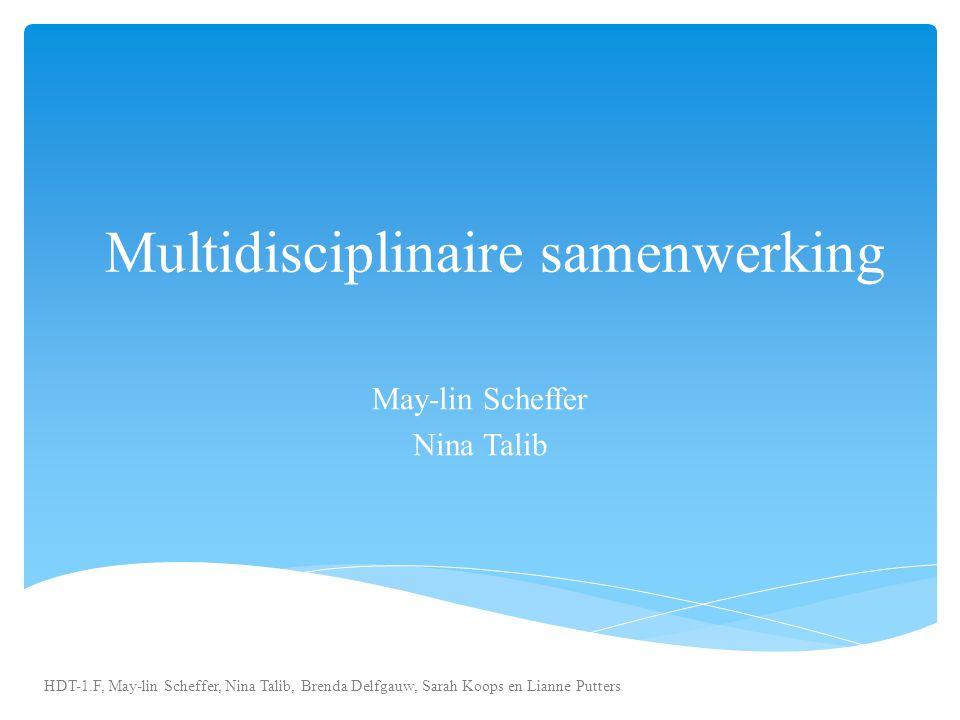 Multidisciplinaire samenwerking May-lin Scheffer Nina Talib HDT-1.F, May-lin Scheffer, Nina Talib, Brenda Delfgauw, Sarah Koops en Lianne Putters