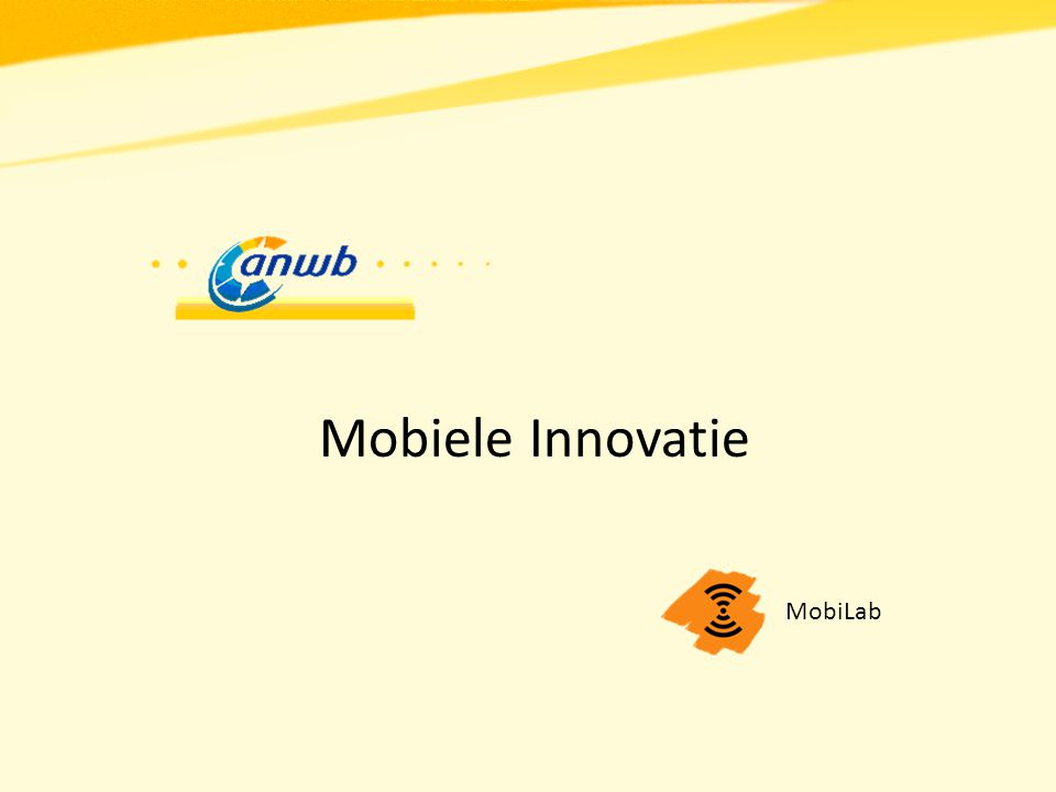 MobiLab Mobiele applicaties Mobiele innovatie ('laboratorium') Klantgericht Jong bedrijf Ruime ervaring (> 15 jaar) Betrouwbaar netwerk Vodafone augmented reality (demo) Spelmaker Efteling interactieve plattegrond