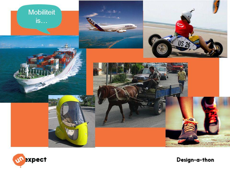 Design-a-Thon 16 Oktober 2014 Mobiliteit is…