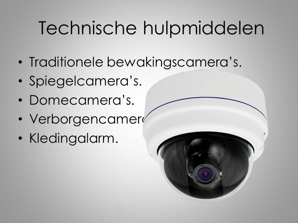 Technische hulpmiddelen Traditionele bewakingscamera's.
