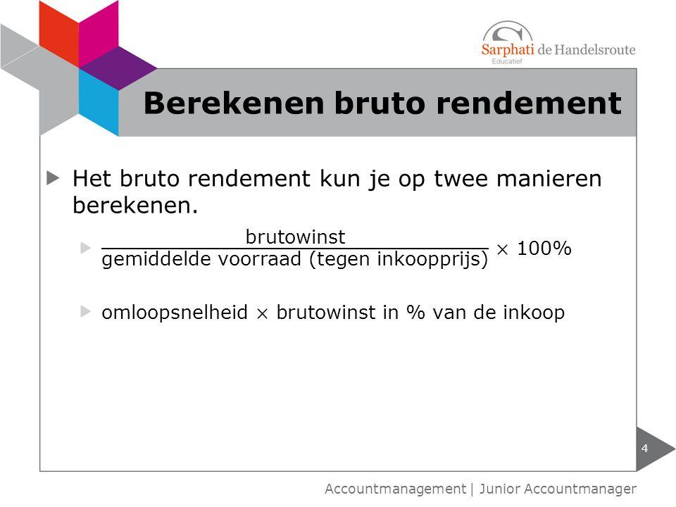 5 Accountmanagement   Junior Accountmanager Omloopsnelheid
