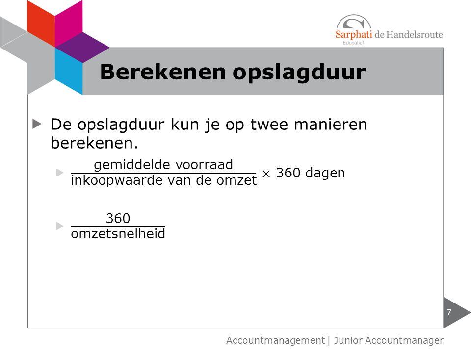 8 Accountmanagement   Junior Accountmanager Servicegraad