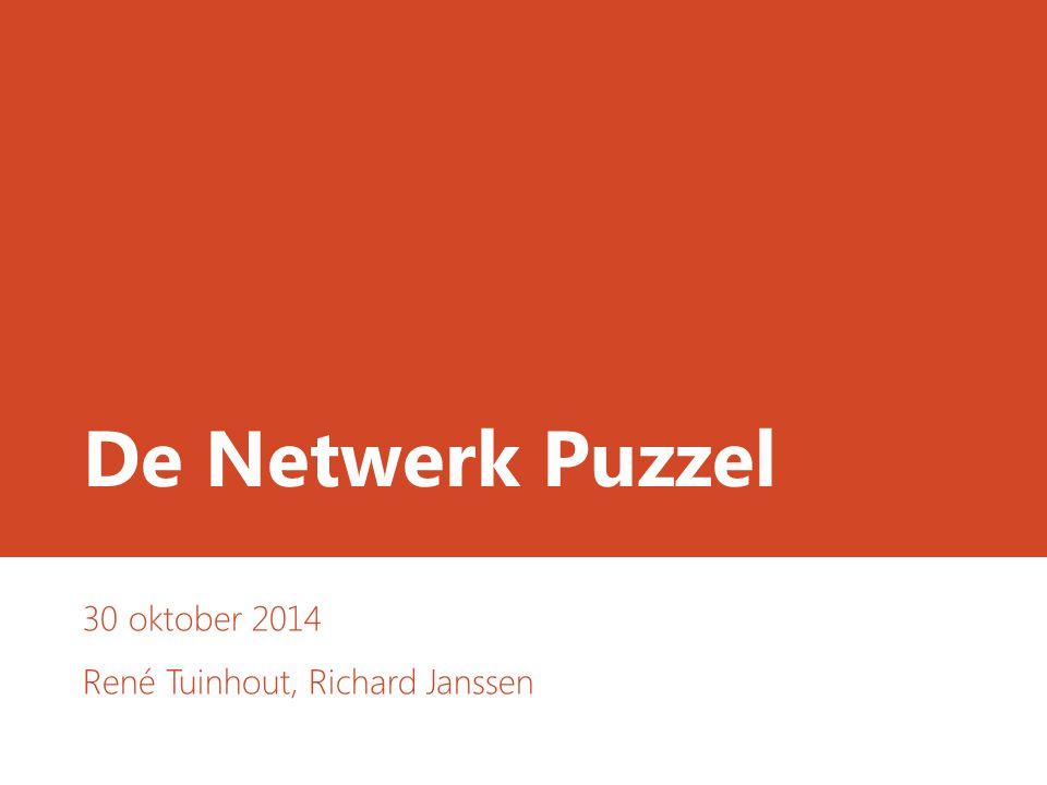 De Netwerk Puzzel 30 oktober 2014 René Tuinhout, Richard Janssen