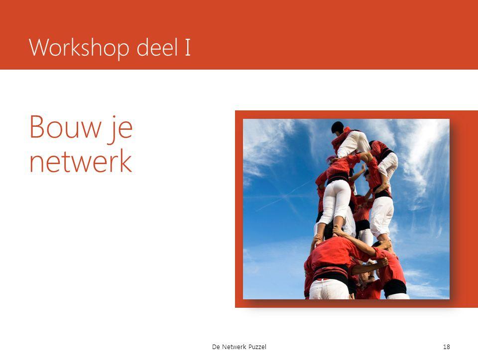 Bouw je netwerk De Netwerk Puzzel Workshop deel I 18
