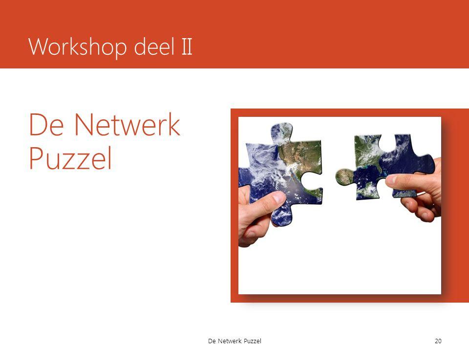 De Netwerk Puzzel Workshop deel II 20