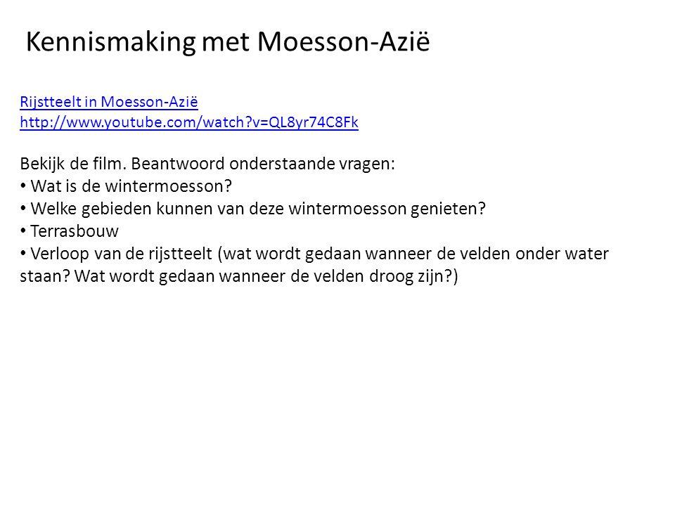 Rijstteelt in Moesson-Azië http://www.youtube.com/watch?v=QL8yr74C8Fk Bekijk de film.
