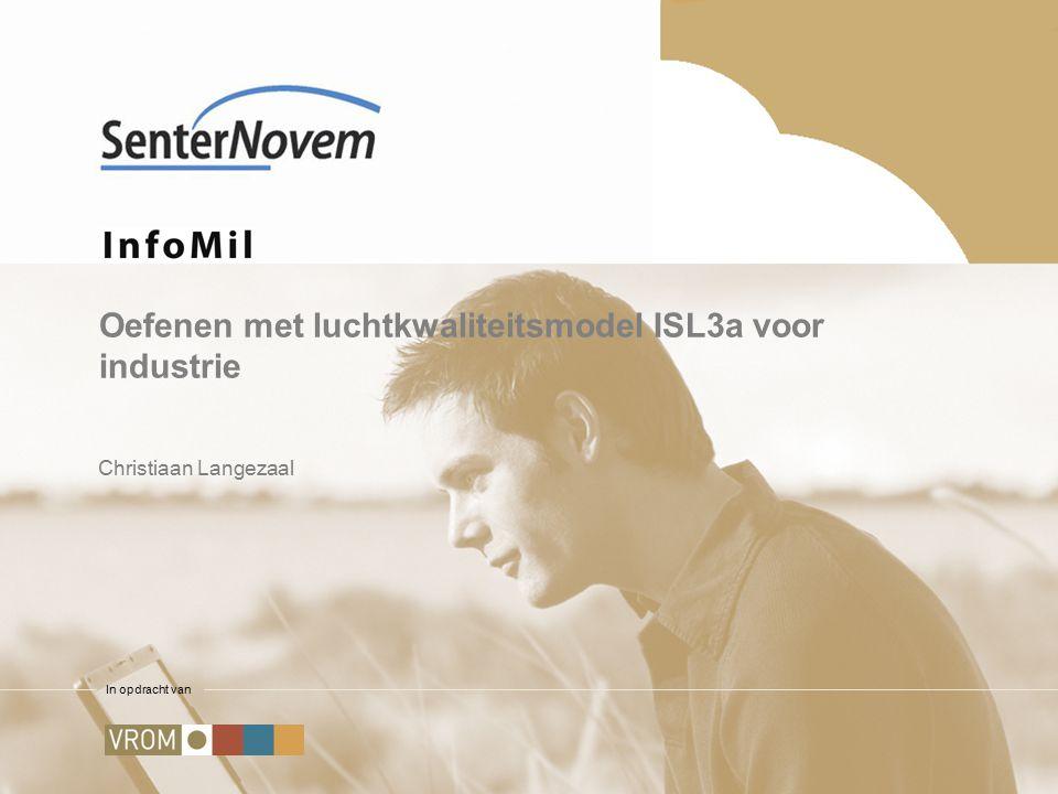 In opdracht van Oefenen met luchtkwaliteitsmodel ISL3a voor industrie Christiaan Langezaal