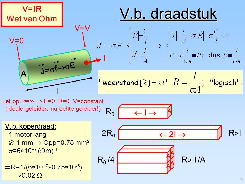 36 L Energie in: B-veld Dus:  hetzelfde!  handige manier om L te bepalen: L  2U L /I 2