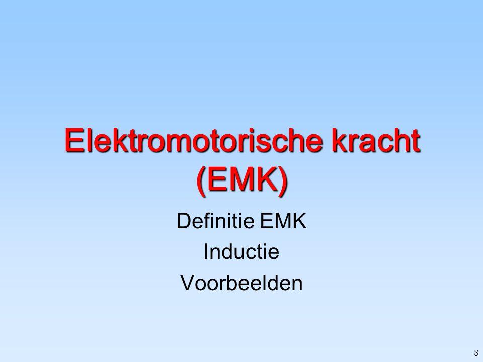 8 Elektromotorische kracht (EMK) Definitie EMK Inductie Voorbeelden
