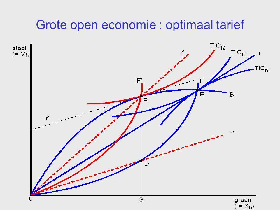 Grote open economie : optimaal tarief