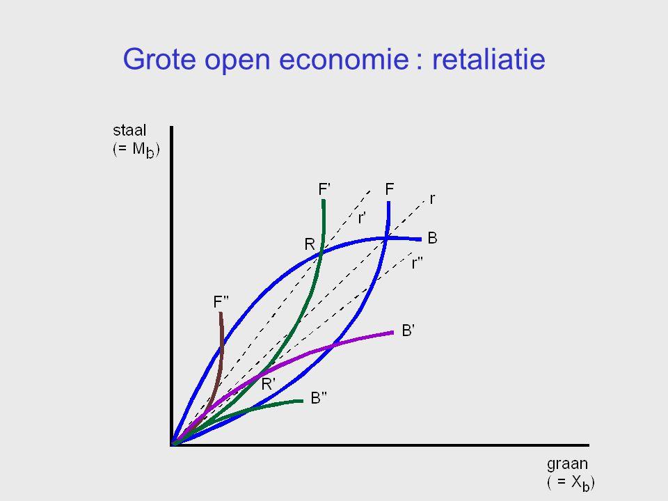 Grote open economie : retaliatie