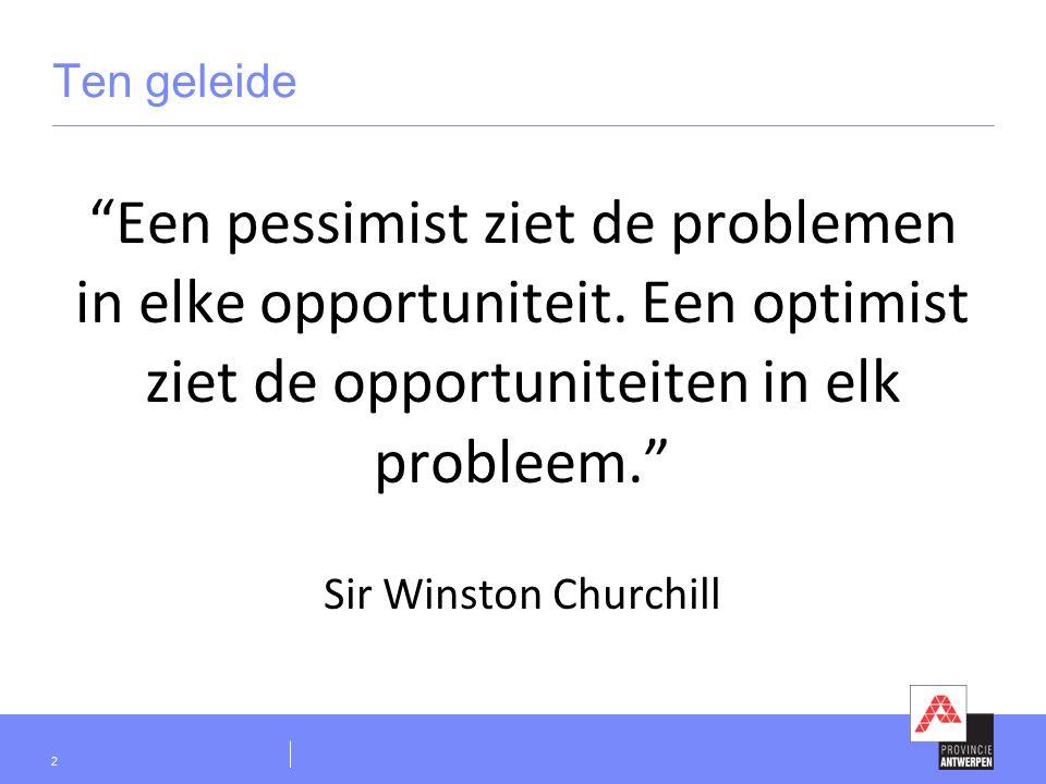 Ten geleide Een pessimist ziet de problemen in elke opportuniteit.