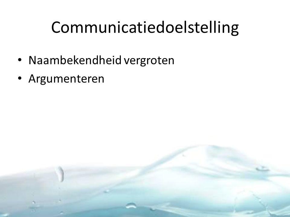 Communicatiedoelstelling Naambekendheid vergroten Argumenteren