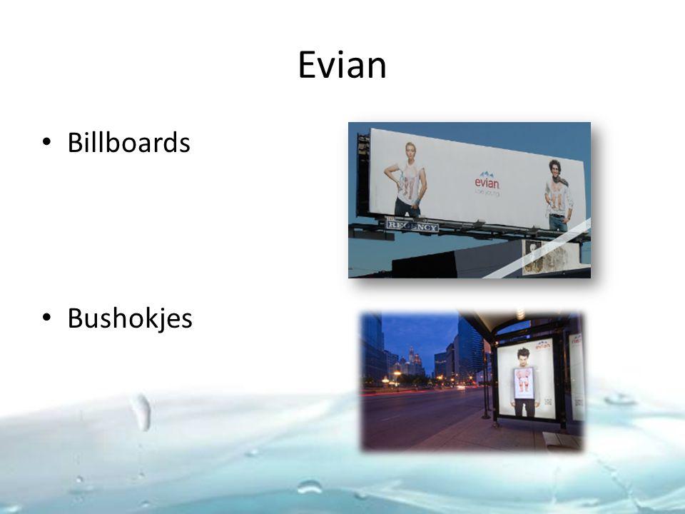 Evian Billboards Bushokjes
