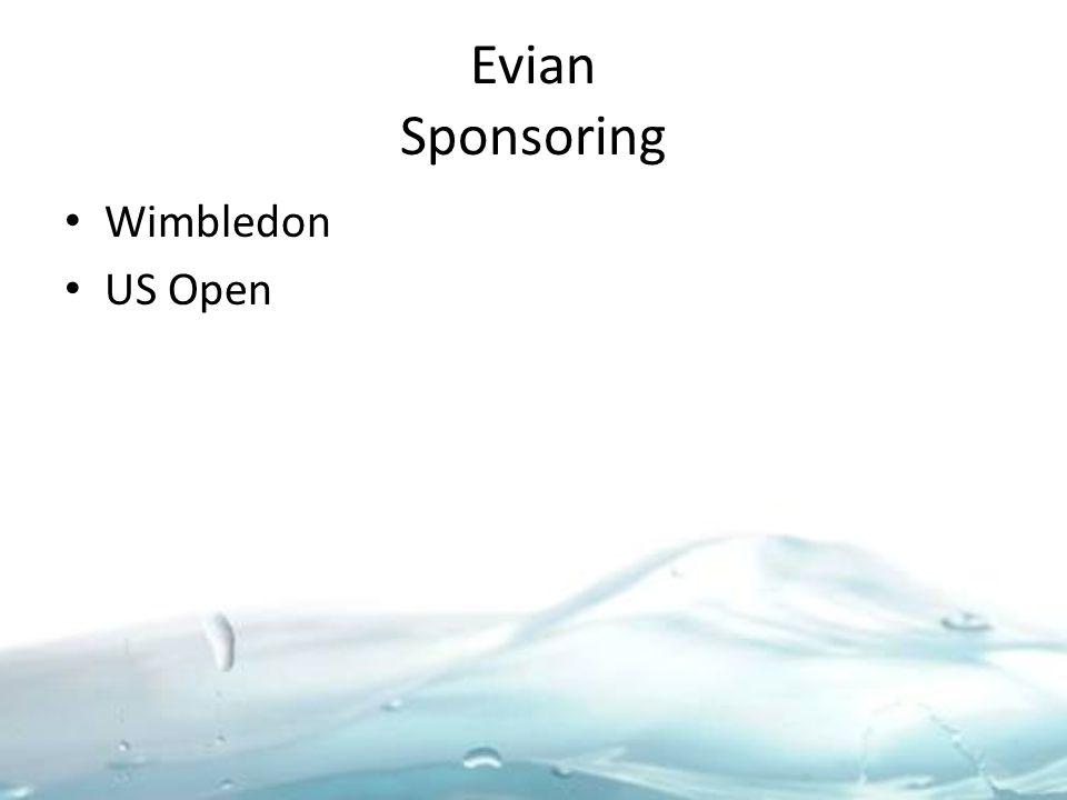 Evian Sponsoring Wimbledon US Open