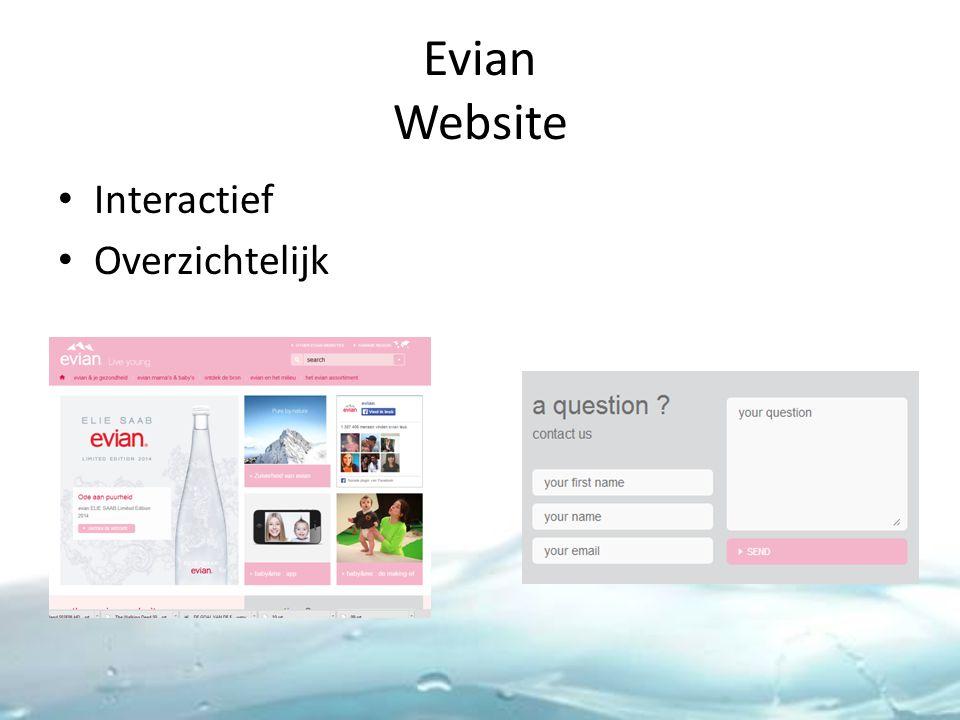 Evian Website Interactief Overzichtelijk
