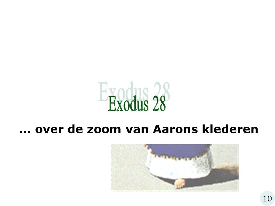 10 … over de zoom van Aarons klederen