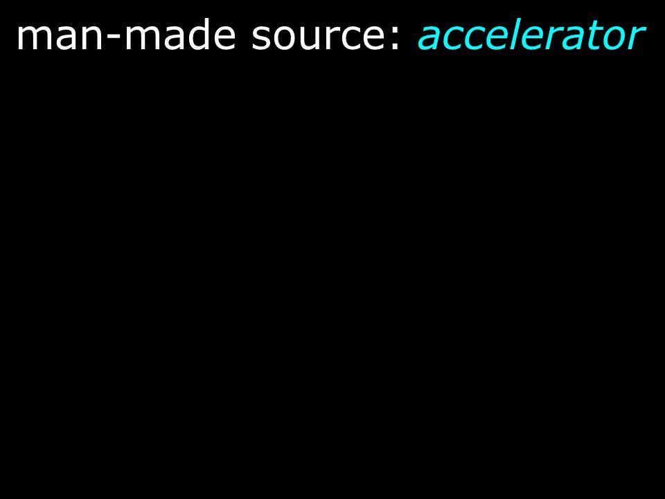 man-made source: accelerator