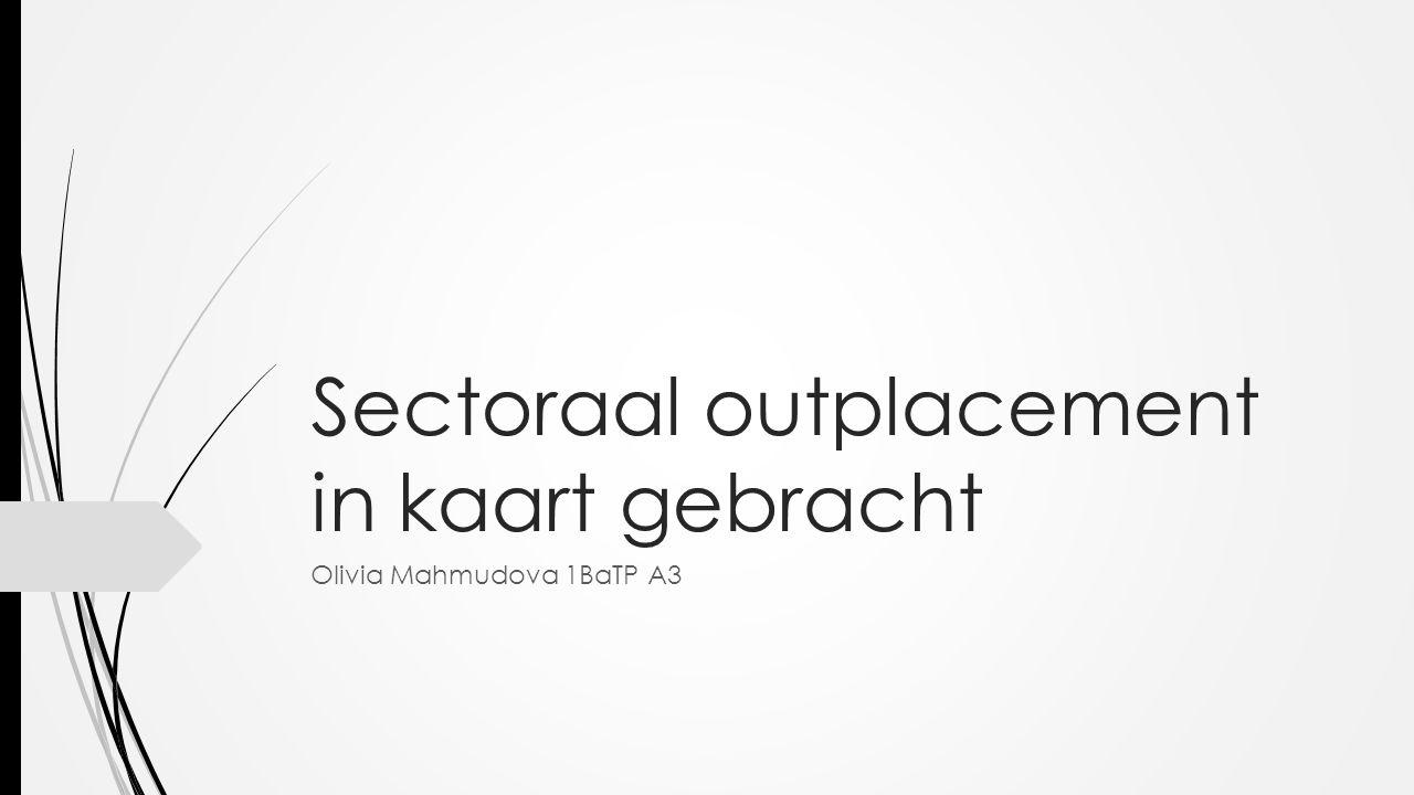 Sectoraal outplacement in kaart gebracht Olivia Mahmudova 1BaTP A3