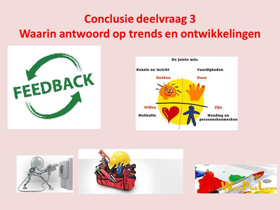 Conclusie deelvraag 3 Waarin antwoord op trends en ontwikkelingen