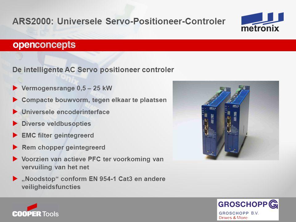 De intelligente AC Servo positioneer controler  Vermogensrange 0,5 – 25 kW  Compacte bouwvorm, tegen elkaar te plaatsen  Universele encoderinterfac