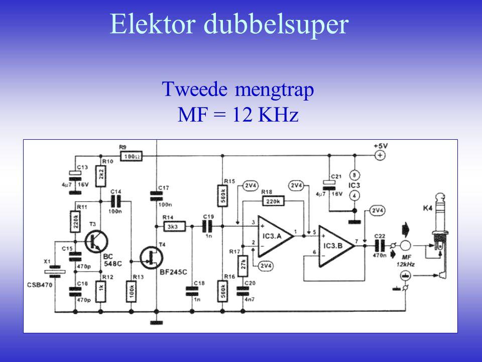 Elektor dubbelsuper Tweede mengtrap MF = 12 KHz