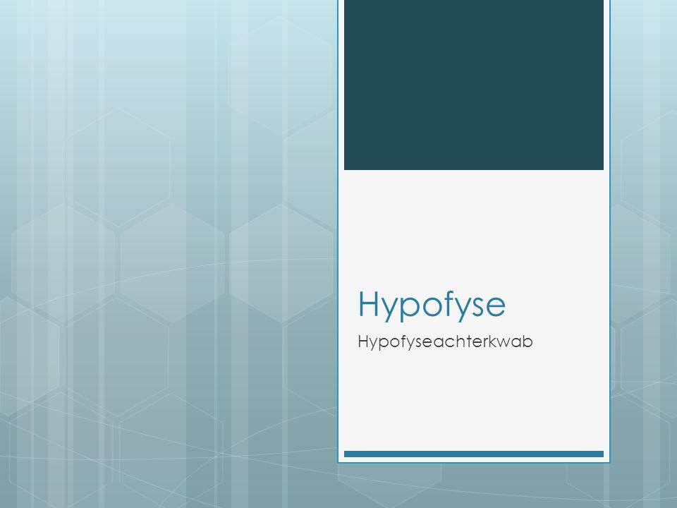 Hypofyse Hypofyseachterkwab