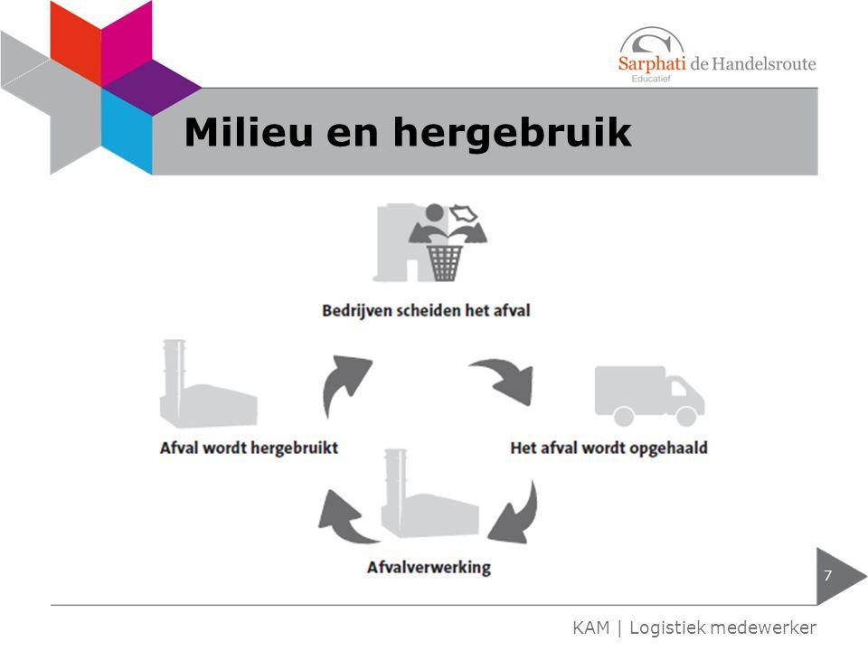 Milieu en hergebruik 7 KAM | Logistiek medewerker