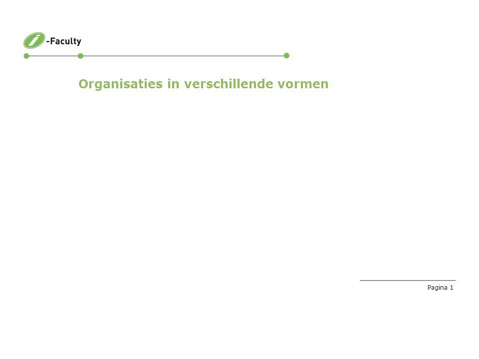 Pagina 1 Organisaties in verschillende vormen