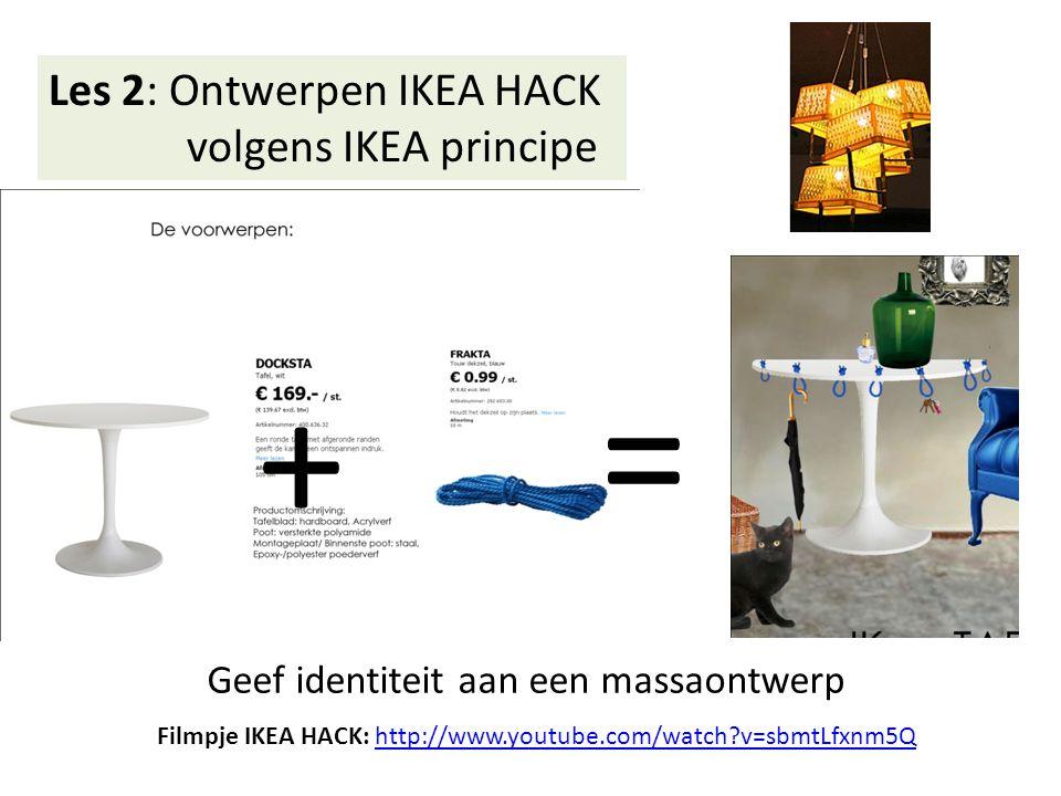 Les 3: Het afmaken van de IKEA HACK Presentatie van de HACK in postervorm