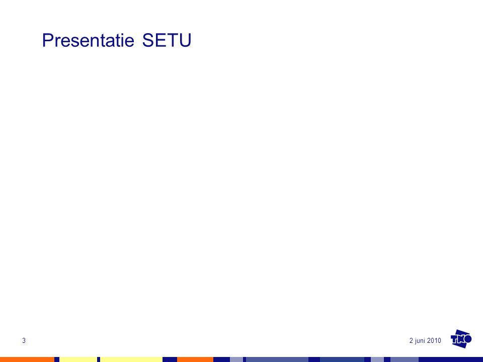 2 juni 20103 Presentatie SETU