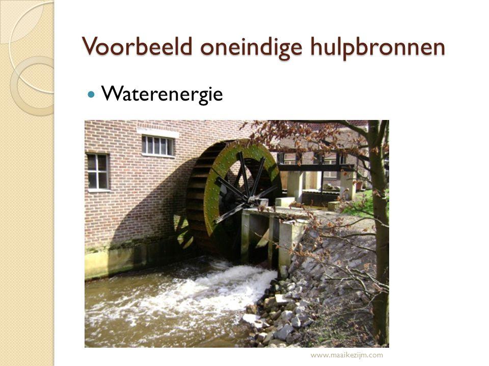 Voorbeeld oneindige hulpbronnen Waterenergie www.maaikezijm.com