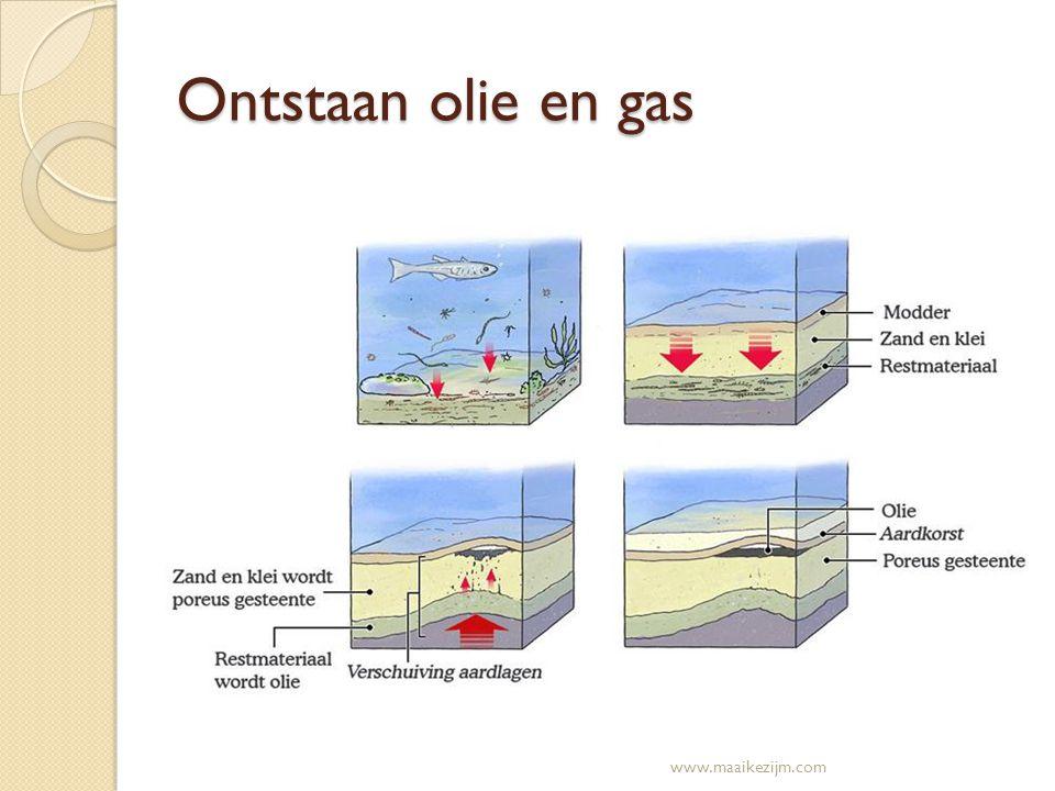 Ontstaan olie en gas www.maaikezijm.com