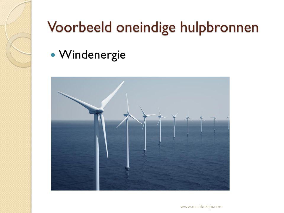 Voorbeeld oneindige hulpbronnen Windenergie www.maaikezijm.com