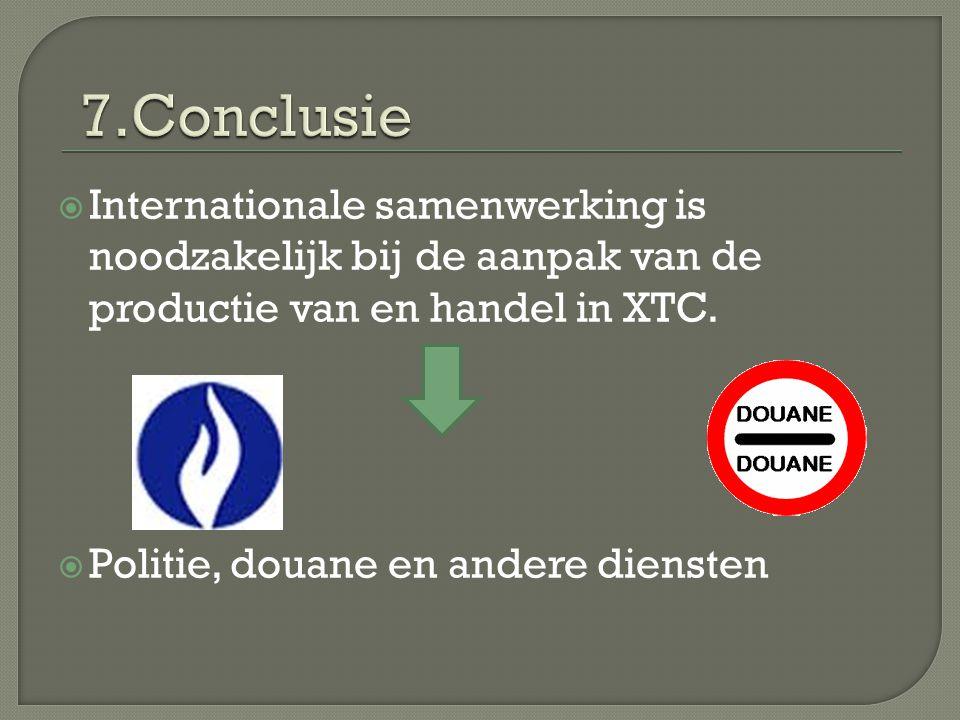  Internationale samenwerking is noodzakelijk bij de aanpak van de productie van en handel in XTC.