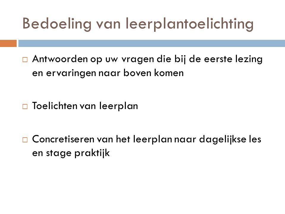 LEERPLANDOELSTELLINGEN VOOR 20 UUR DPB Brugge - 2014