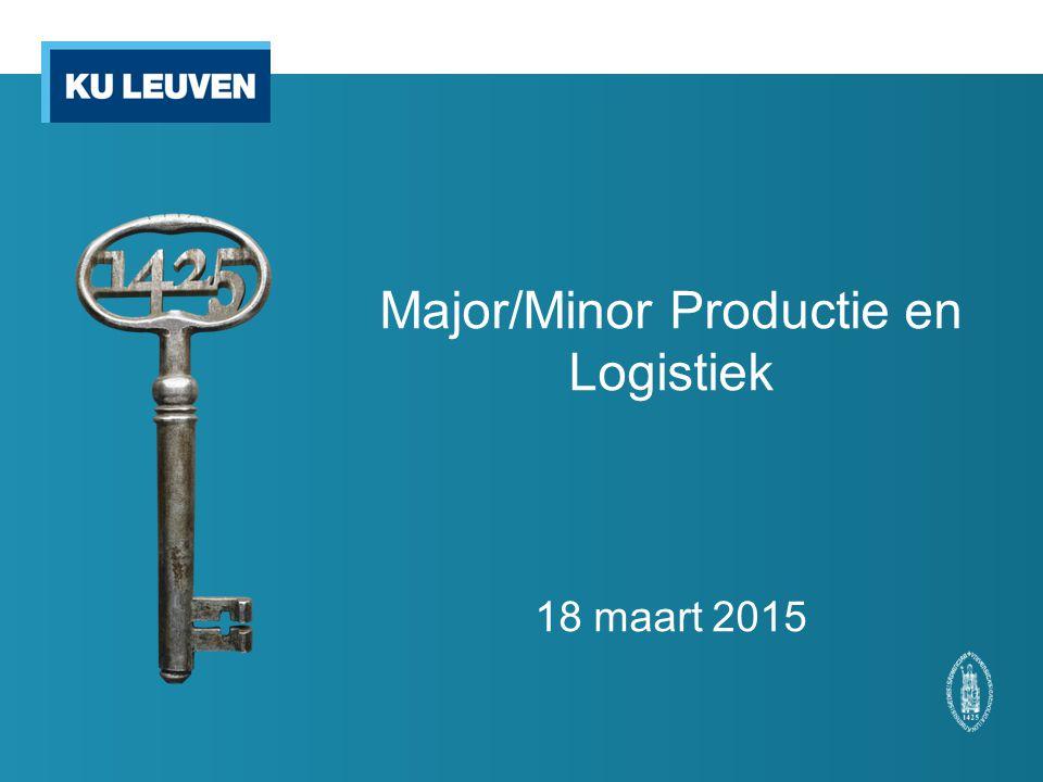 Thema's  Bedrijfskundige en beheersmatige benadering van productie, voorraadbeheer en logistiek.